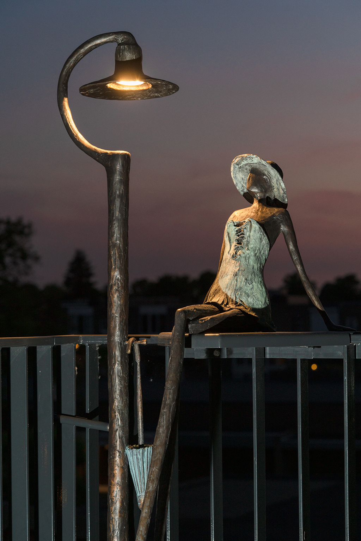 Sculptuur met lantaarn - Astrid Huisman-Biemans